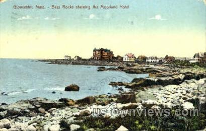 Moorland Hotel, Bass Rocks - Gloucester, Massachusetts MA Postcard