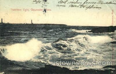Thatchers Light - Gloucester, Massachusetts MA Postcard
