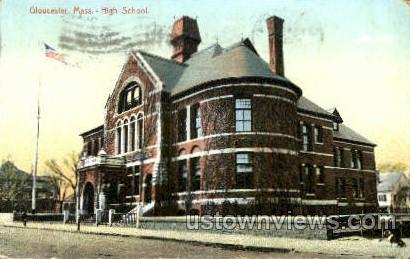 High School - Gloucester, Massachusetts MA Postcard