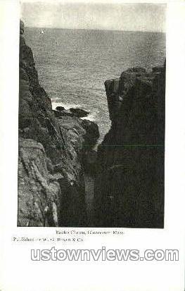 Raefes Chasm - Gloucester, Massachusetts MA Postcard