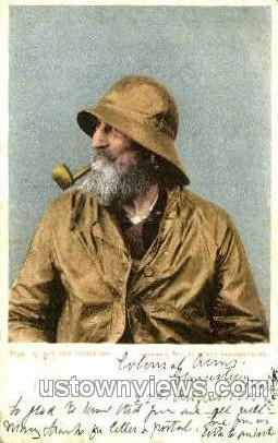 A Cape Ann Fisherman - Gloucester, Massachusetts MA Postcard