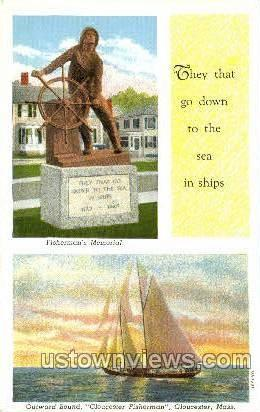 Fisherman - Gloucester, Massachusetts MA Postcard