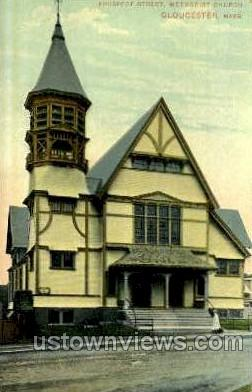 Prospect St. Methodist Church - Gloucester, Massachusetts MA Postcard