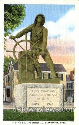 The Fisherman's Memorial - Gloucester, Massachusetts MA Postcard