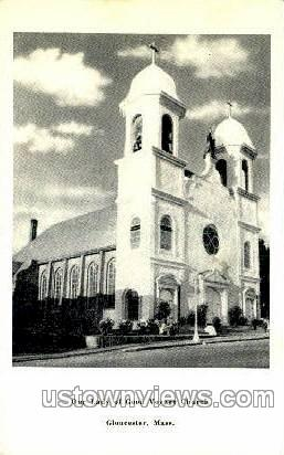 Our Lady of Good Voyage Church - Gloucester, Massachusetts MA Postcard