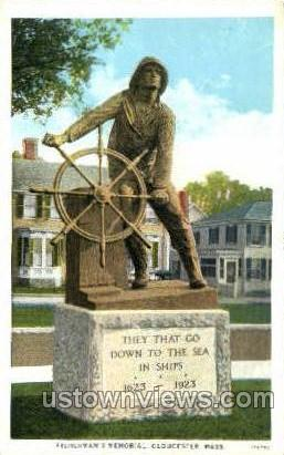 Fisherman's Memorial - Gloucester, Massachusetts MA Postcard