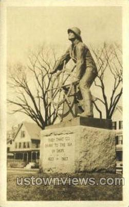 Real Photo Fisherman's Memorial - Gloucester, Massachusetts MA Postcard