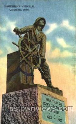 Fishermen's Memorial - Gloucester, Massachusetts MA Postcard