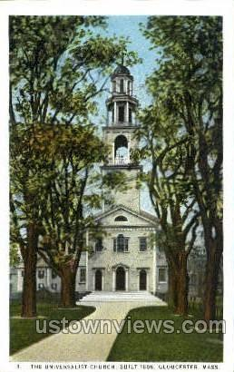 The Universalist Church - Gloucester, Massachusetts MA Postcard