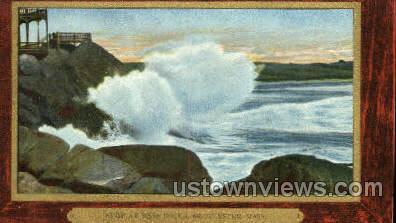 Surf, Bass Rocks - Gloucester, Massachusetts MA Postcard