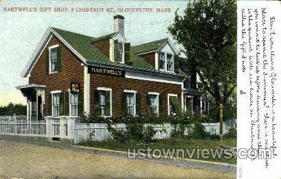 Hartwell's Gift Chop - Gloucester, Massachusetts MA Postcard