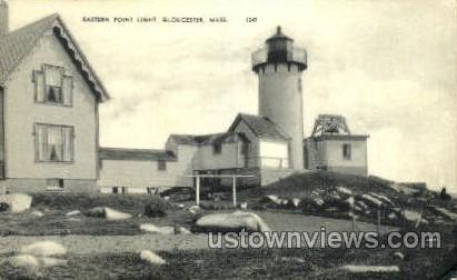 Eastern Point Light - Gloucester, Massachusetts MA Postcard