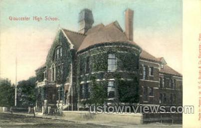 Gloucester High School - Massachusetts MA Postcard
