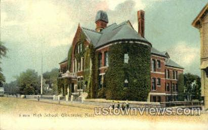 High School - Gloucester, Massachusetts MA Postcard