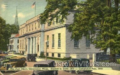 The Post Office - Gloucester, Massachusetts MA Postcard