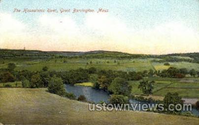 The Housatonic River - Great Barrington, Massachusetts MA Postcard