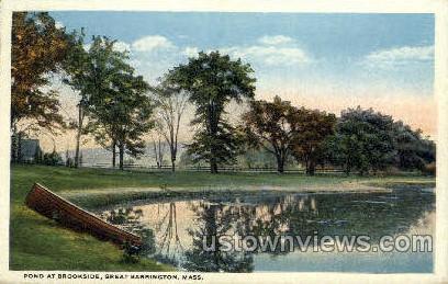 Pond, Brookside - Great Barrington, Massachusetts MA Postcard