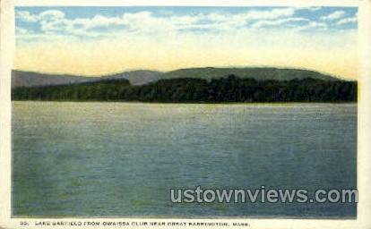 Lake Garfield, Owaissa Club - Great Barrington, Massachusetts MA Postcard