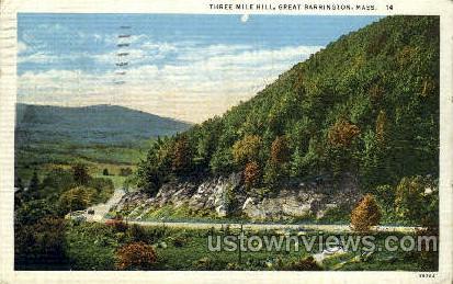 Three Mile Hill - Great Barrington, Massachusetts MA Postcard