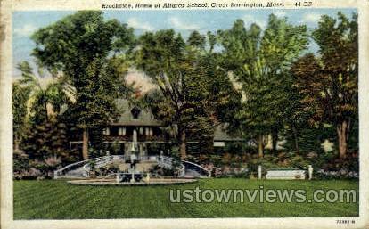 Home of Altaraz School - Great Barrington, Massachusetts MA Postcard