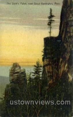 The Devil's Pulpit - Great Barrington, Massachusetts MA Postcard