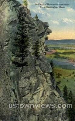 Monument Mountain - Great Barrington, Massachusetts MA Postcard