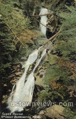 Sages Ravine - Great Barrington, Massachusetts MA Postcard