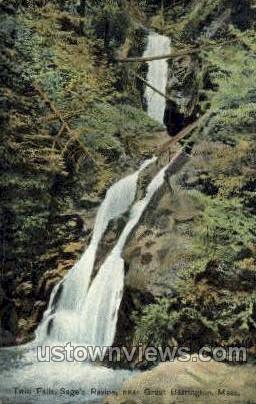 Twin Falls, Sage's Ravine - Great Barrington, Massachusetts MA Postcard