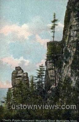 Devil's Pulpit - Great Barrington, Massachusetts MA Postcard