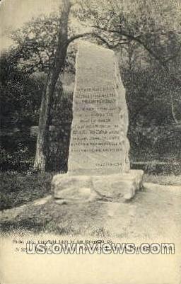 Indian Fordway Monument - Great Barrington, Massachusetts MA Postcard