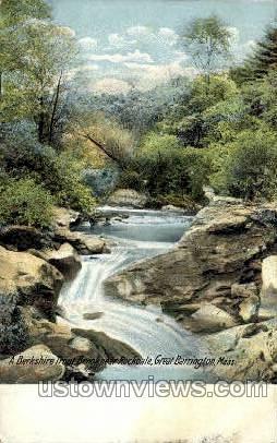 Berkshire Trout Brook, Rockdale - Great Barrington, Massachusetts MA Postcard