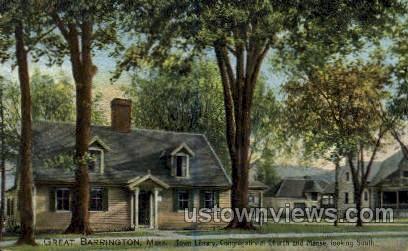 Town Library  - Great Barrington, Massachusetts MA Postcard