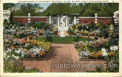 Italian Garden - Great Barrington, Massachusetts MA Postcard