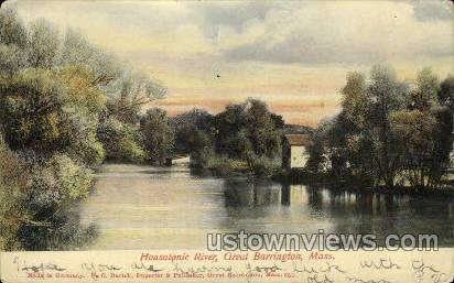 Housatonic River - Great Barrington, Massachusetts MA Postcard