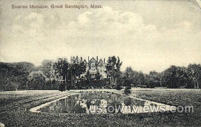 Searles Mansion - Great Barrington, Massachusetts MA Postcard