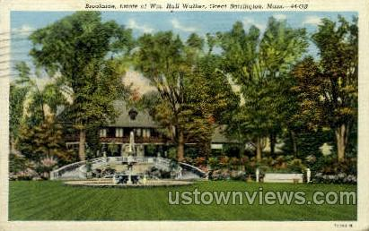 Estate of Wm. Hall Walker - Great Barrington, Massachusetts MA Postcard
