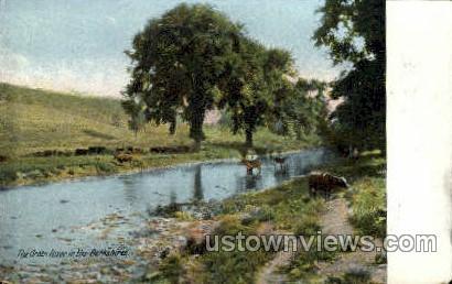 The Green River - Great Barrington, Massachusetts MA Postcard