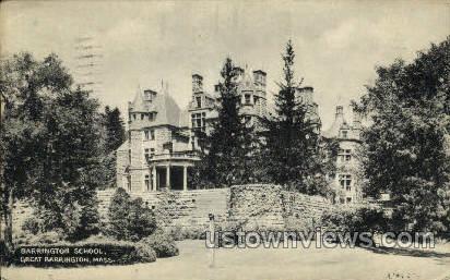 Barrington School - Great Barrington, Massachusetts MA Postcard