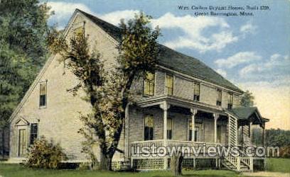 Wm. Cullen Bryant House - Great Barrington, Massachusetts MA Postcard
