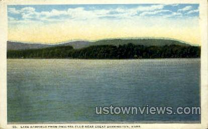 Lake Garfield - Great Barrington, Massachusetts MA Postcard