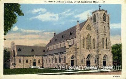 St. Peter's Catholic Church - Great Barrington, Massachusetts MA Postcard