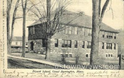 Bryant School - Great Barrington, Massachusetts MA Postcard