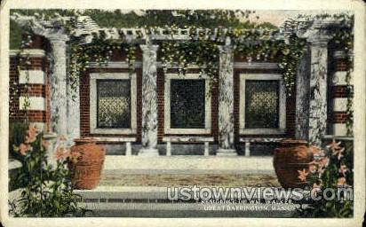 Italian Garden, Brookside - Great Barrington, Massachusetts MA Postcard