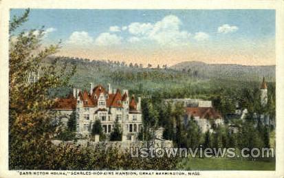 Searles Hopkins Mansion - Great Barrington, Massachusetts MA Postcard