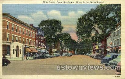 Main St. - Great Barrington, Massachusetts MA Postcard