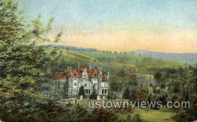 Hopkins-Searles Mansion - Great Barrington, Massachusetts MA Postcard
