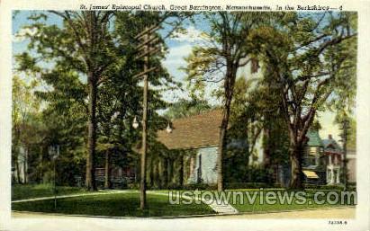 St. James' Episcopal Church - Great Barrington, Massachusetts MA Postcard
