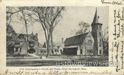 Fisrt Congregational Church - Great Barrington, Massachusetts MA Postcard