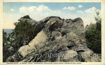 Suaw Peak - Great Barrington, Massachusetts MA Postcard