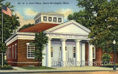 U.S. Post Office - Great Barrington, Massachusetts MA Postcard